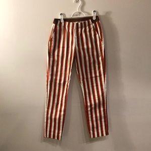 Stripe skinny pants